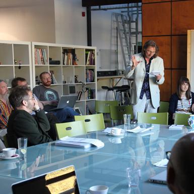 Discussions underway at a REACT Sandbox workshop
